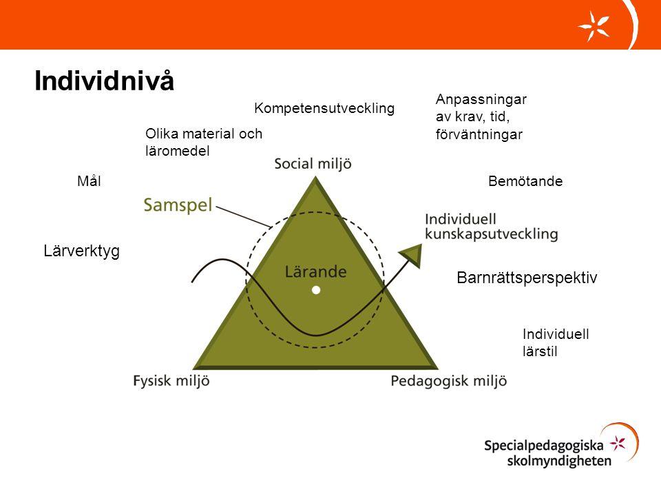 Individnivå Lärverktyg Barnrättsperspektiv