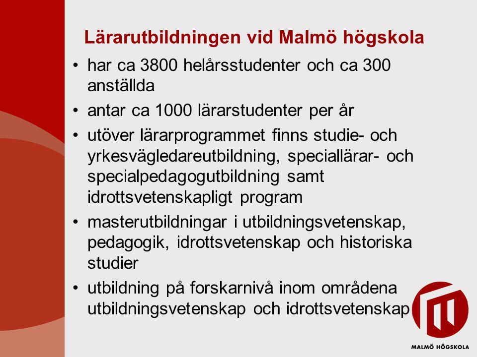 Lärarutbildningen vid Malmö högskola