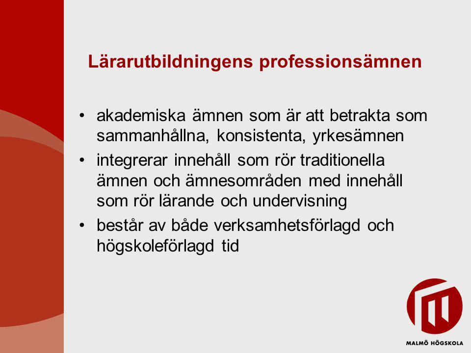 Lärarutbildningens professionsämnen