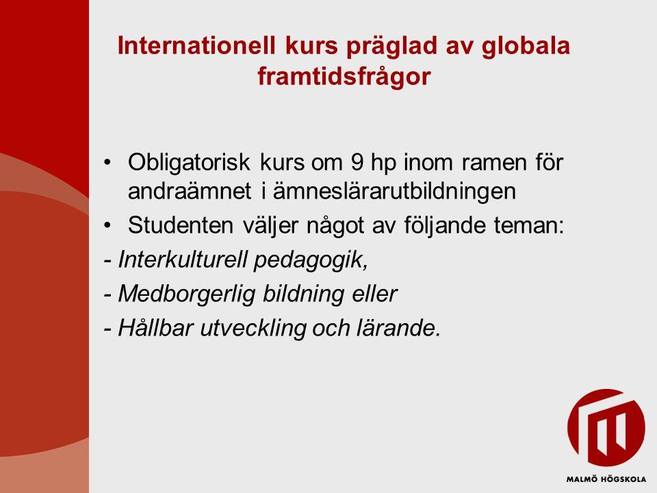 Internationell kurs präglad av globala framtidsfrågor