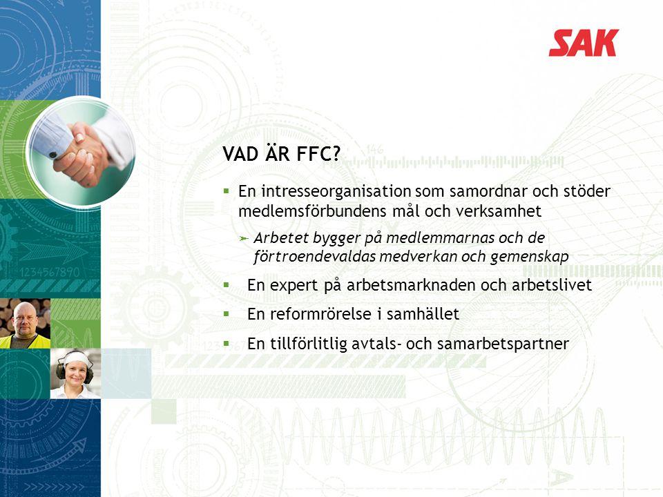 VAD ÄR FFC En intresseorganisation som samordnar och stöder medlemsförbundens mål och verksamhet.
