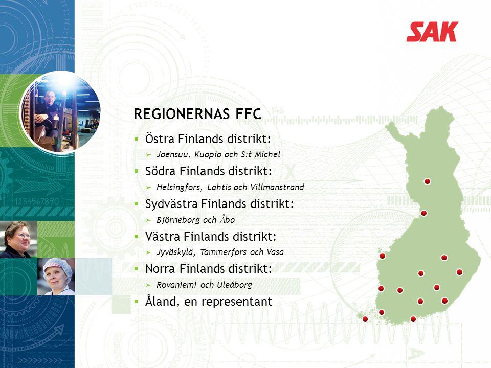 Regionernas FFC Östra Finlands distrikt: Södra Finlands distrikt: