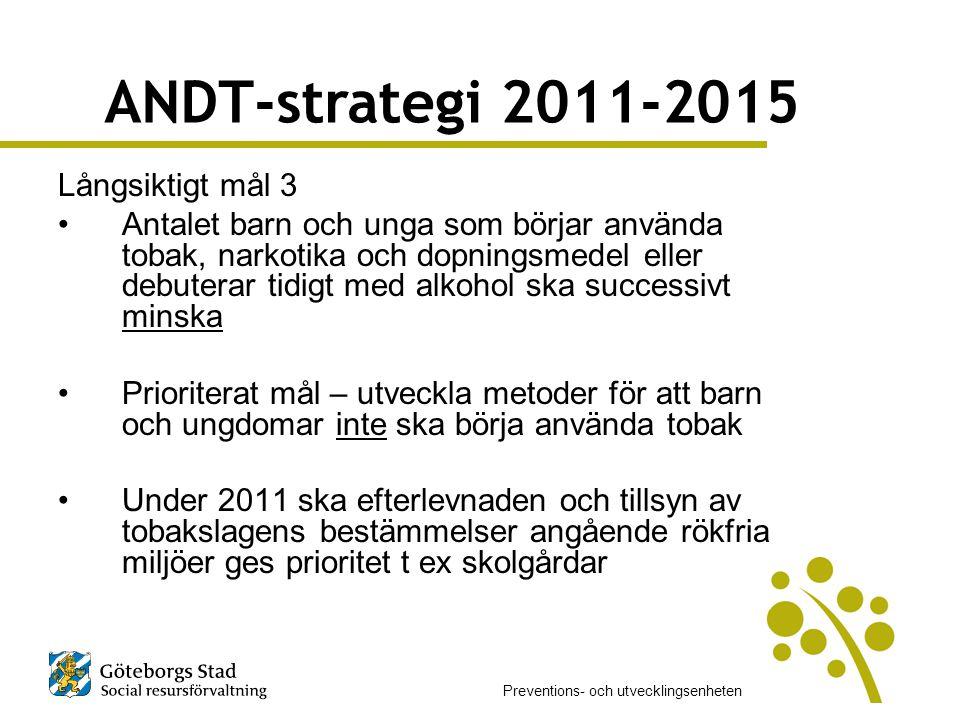 ANDT-strategi 2011-2015 Långsiktigt mål 3