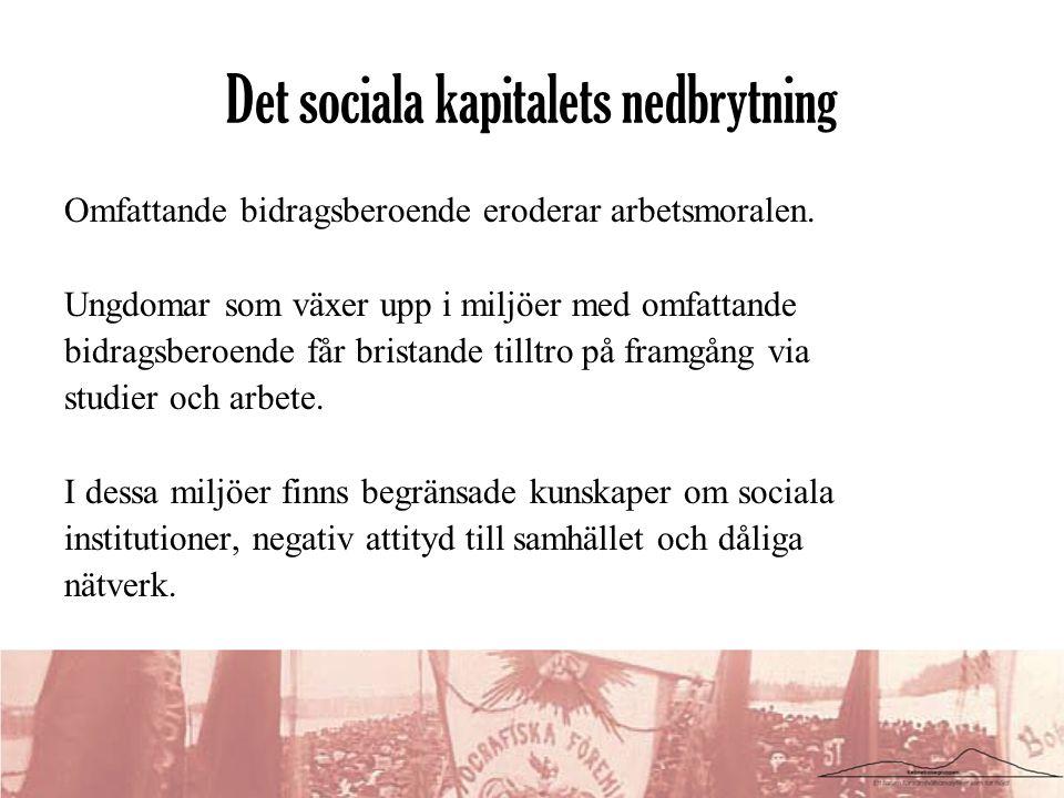 Det sociala kapitalets nedbrytning