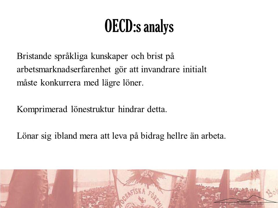 OECD:s analys Bristande språkliga kunskaper och brist på