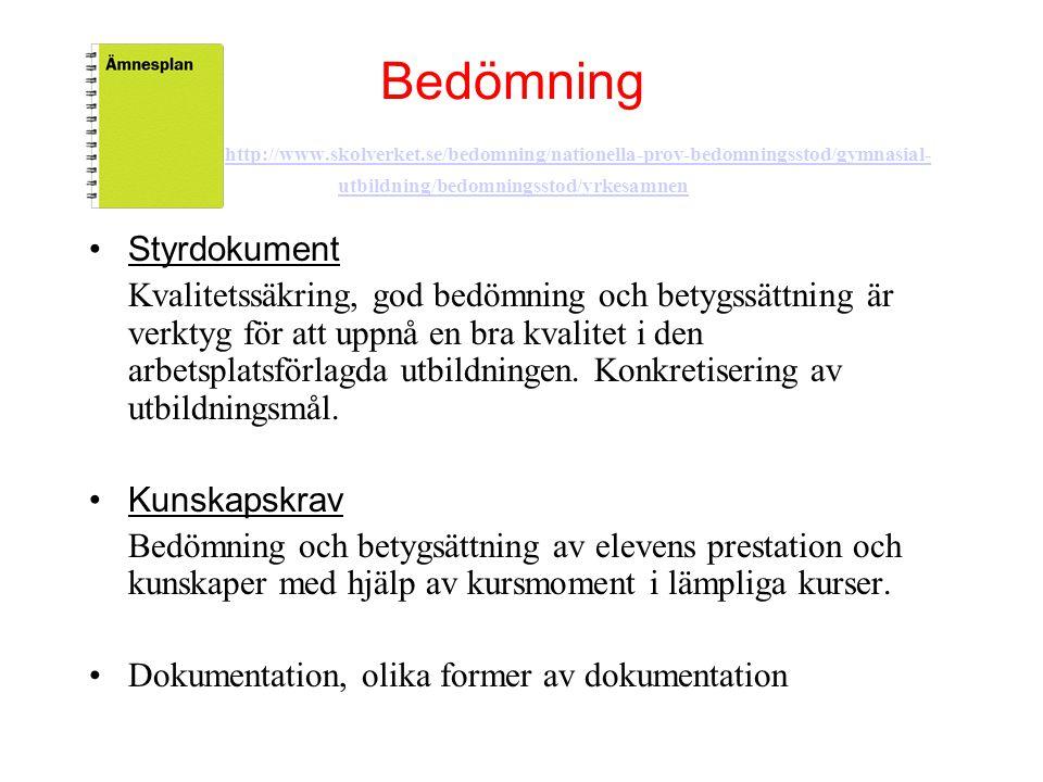 Bedömning http://www. skolverket