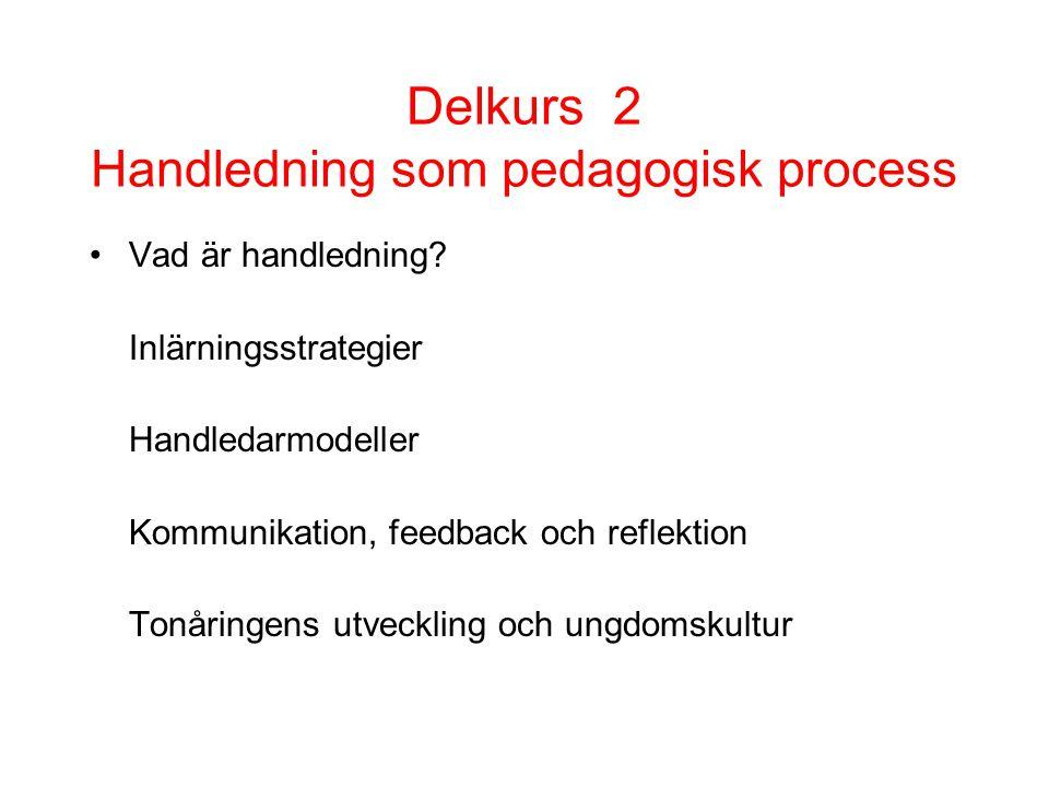 Delkurs 2 Handledning som pedagogisk process