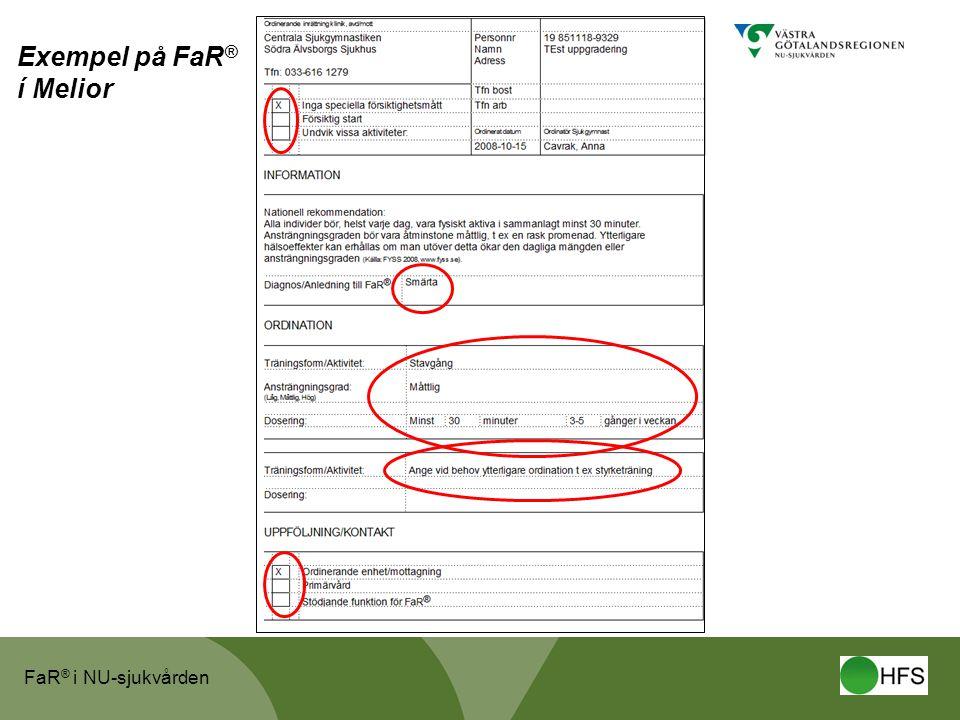 Exempel på FaR® í Melior