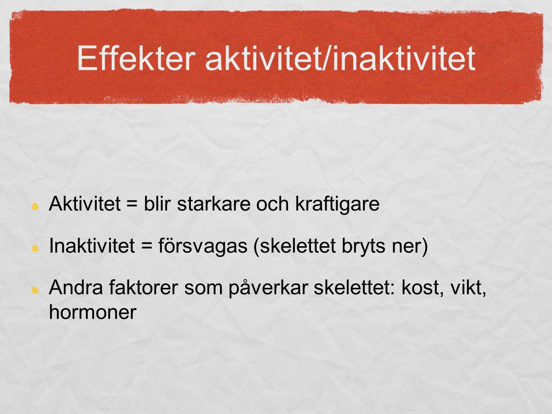 Effekter aktivitet/inaktivitet