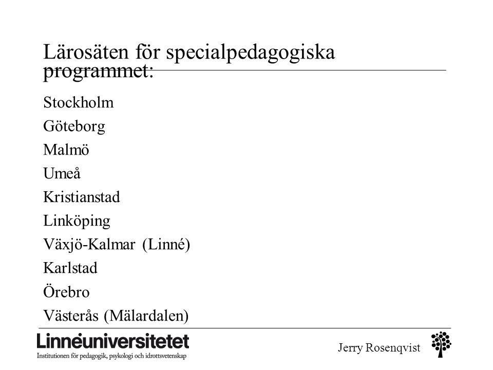 Lärosäten för specialpedagogiska programmet: