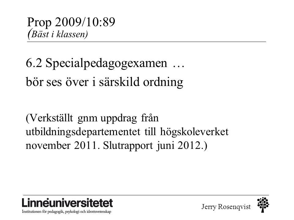 Prop 2009/10:89 (Bäst i klassen)