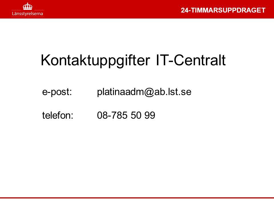 Kontaktuppgifter IT-Centralt