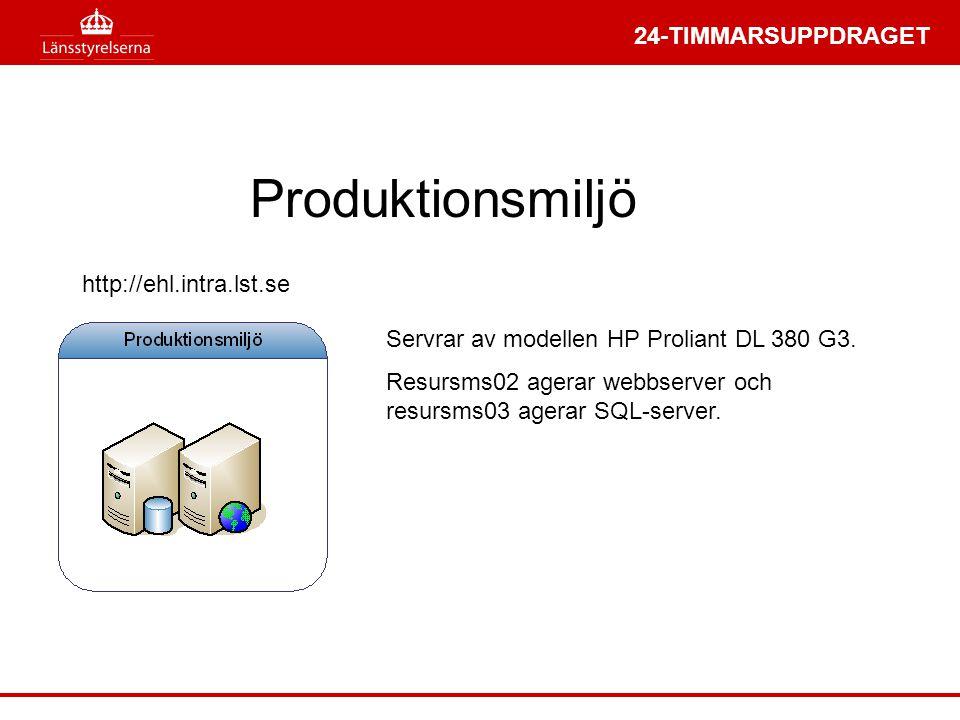 Produktionsmiljö http://ehl.intra.lst.se