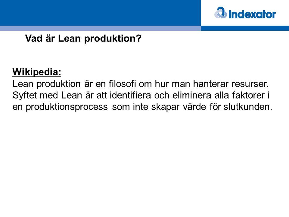 Vad är Lean produktion Wikipedia: