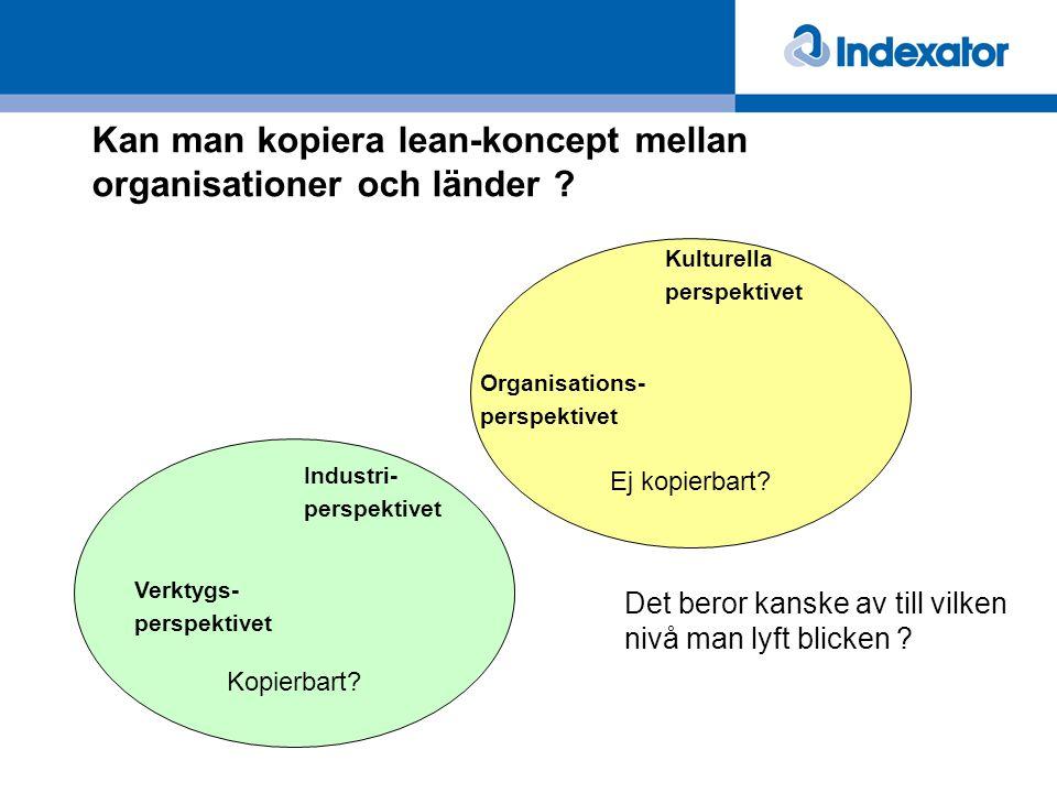 Kan man kopiera lean-koncept mellan organisationer och länder