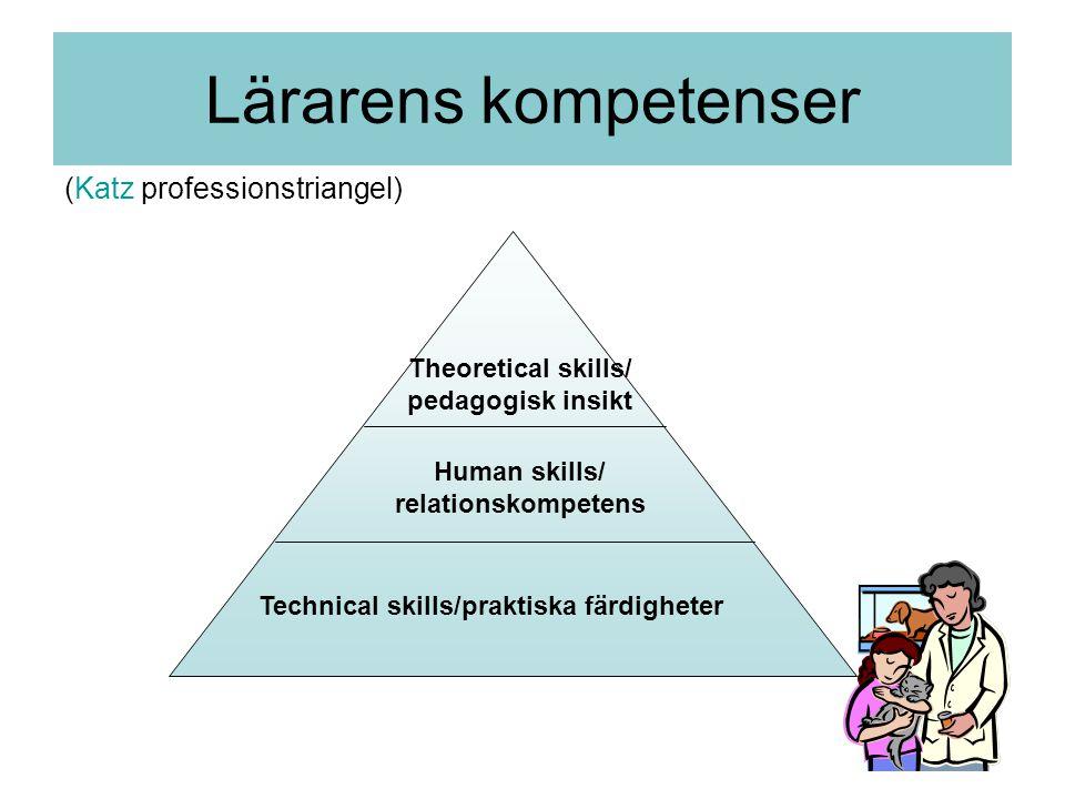 Theoretical skills/ pedagogisk insikt Human skills/ relationskompetens