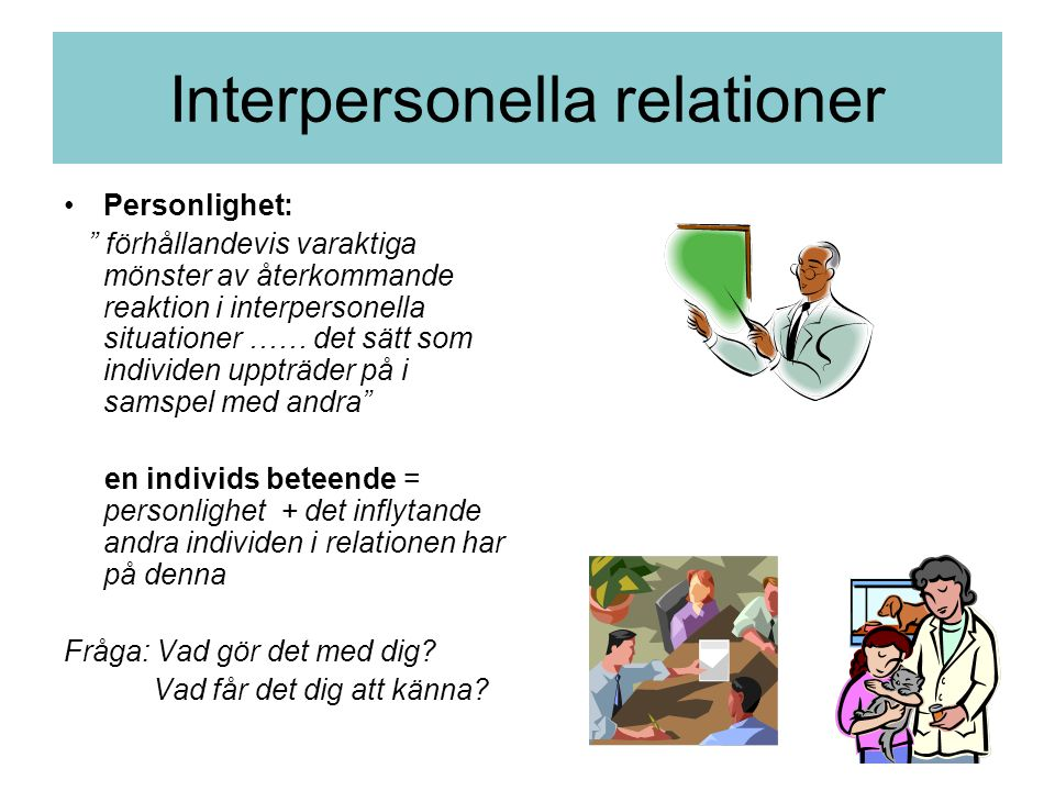 Interpersonella relationer