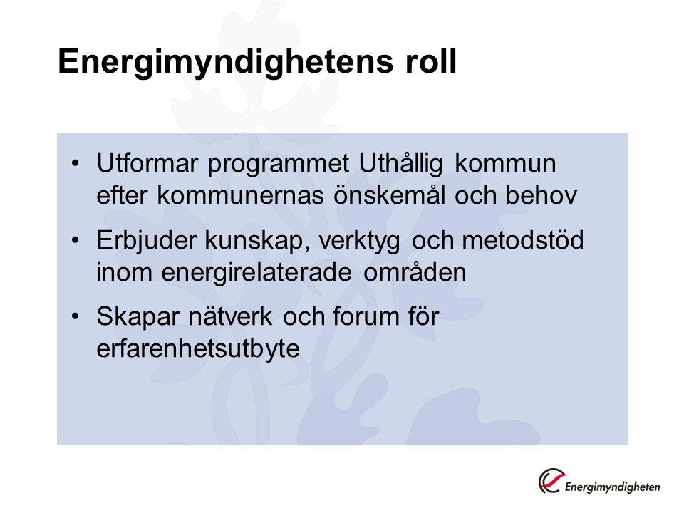 Energimyndighetens roll