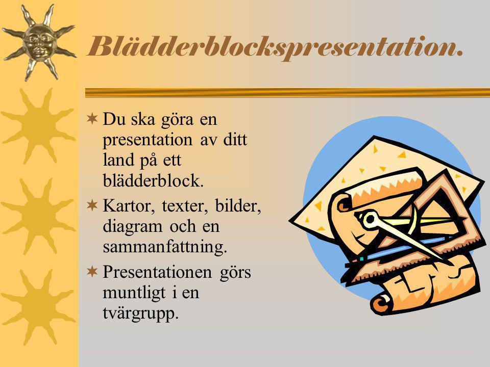 Blädderblockspresentation.