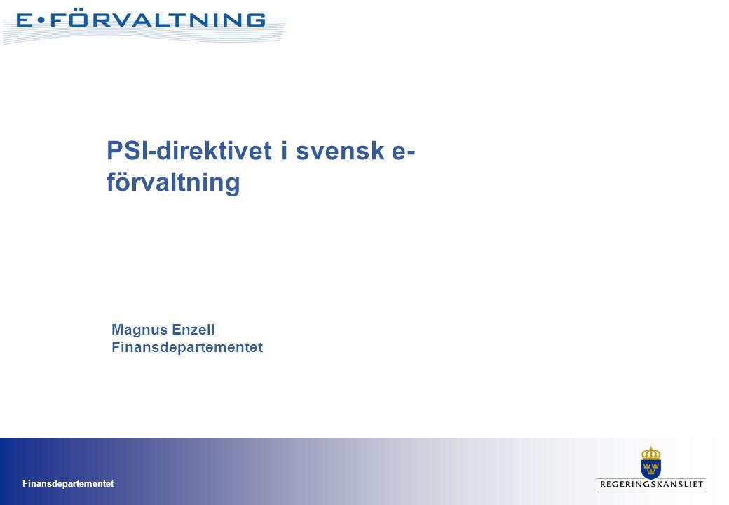 PSI-direktivet i svensk e-förvaltning