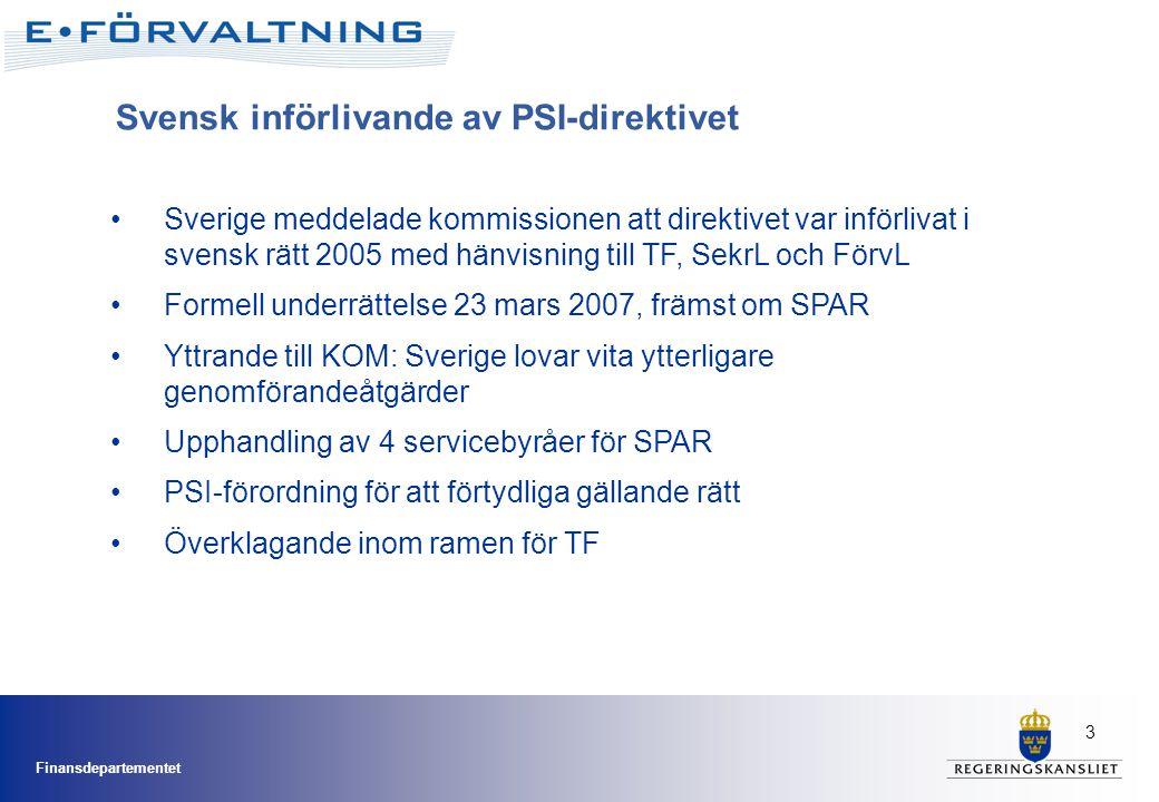 Svensk införlivande av PSI-direktivet