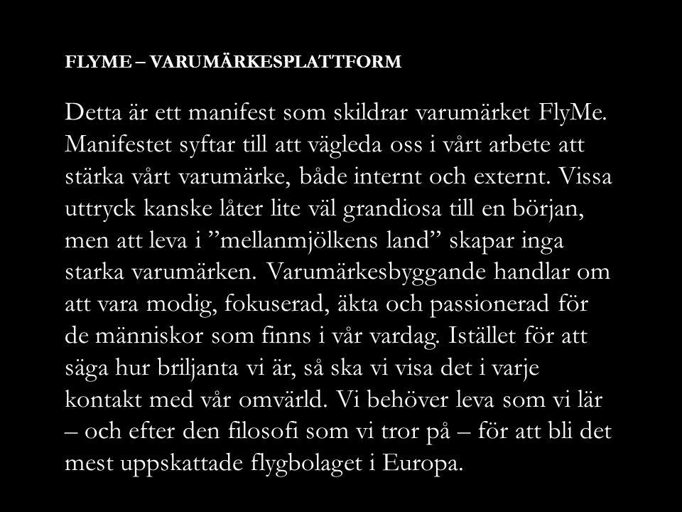 FLYME – VARUMÄRKESPLATTFORM