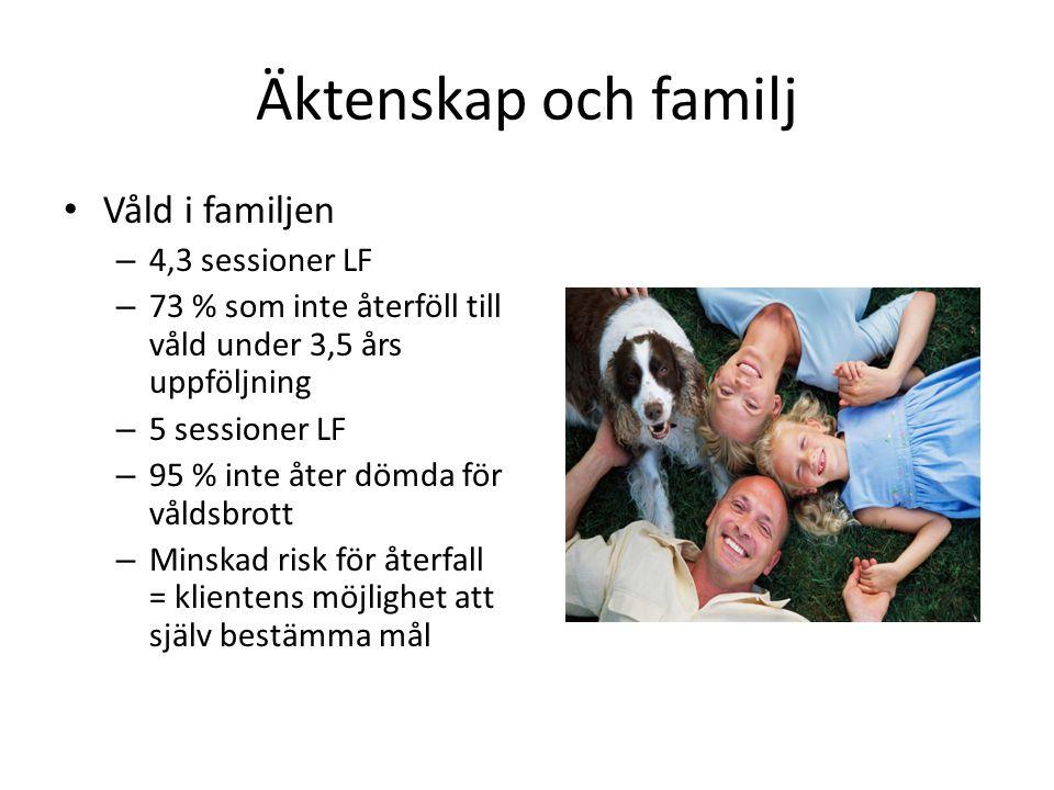 Äktenskap och familj Våld i familjen 4,3 sessioner LF