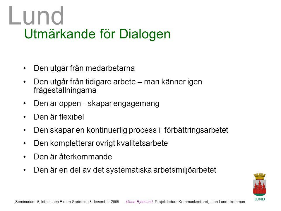 Utmärkande för Dialogen