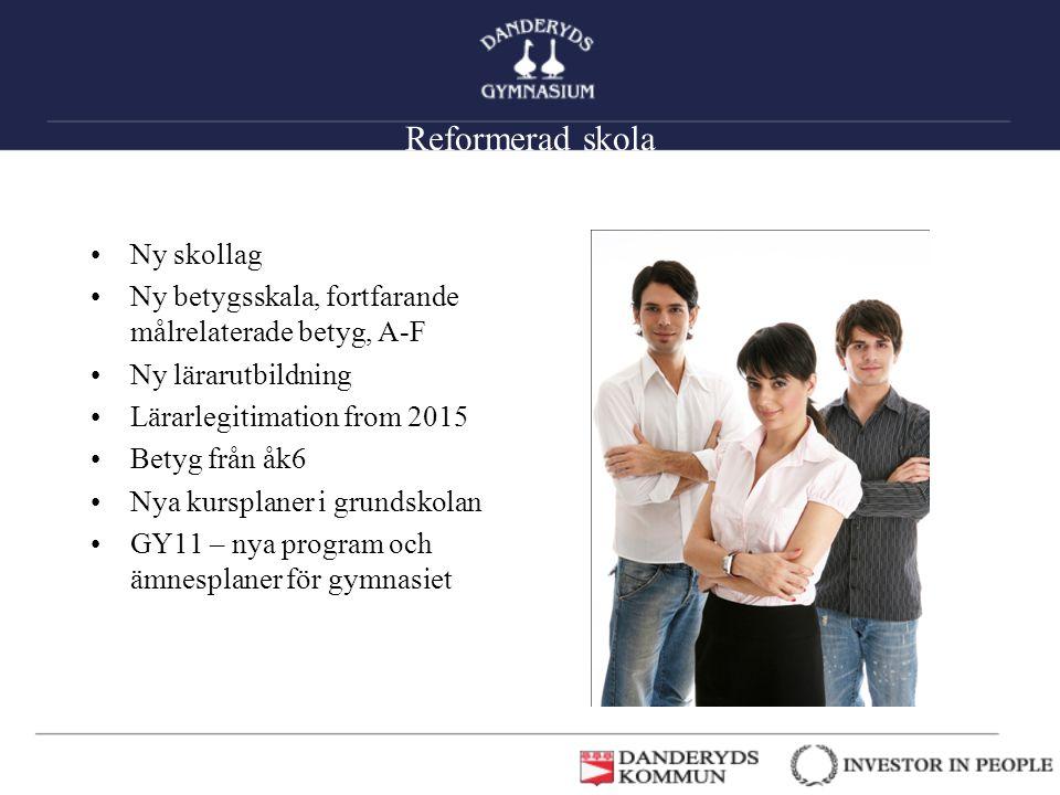 Reformerad skola Ny skollag