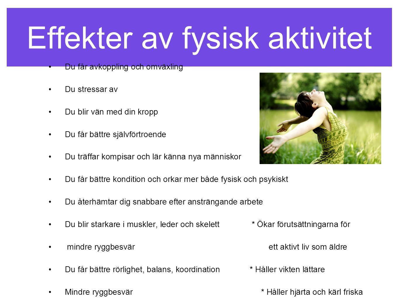 Effekter av fysisk aktivitet