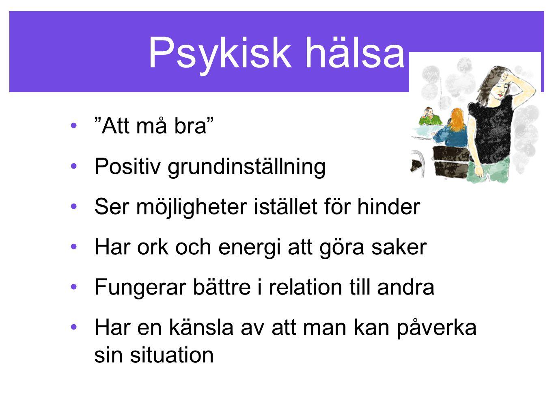Psykisk hälsa Att må bra Positiv grundinställning