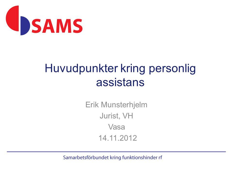 Erik Munsterhjelm Jurist, VH Vasa 14.11.2012