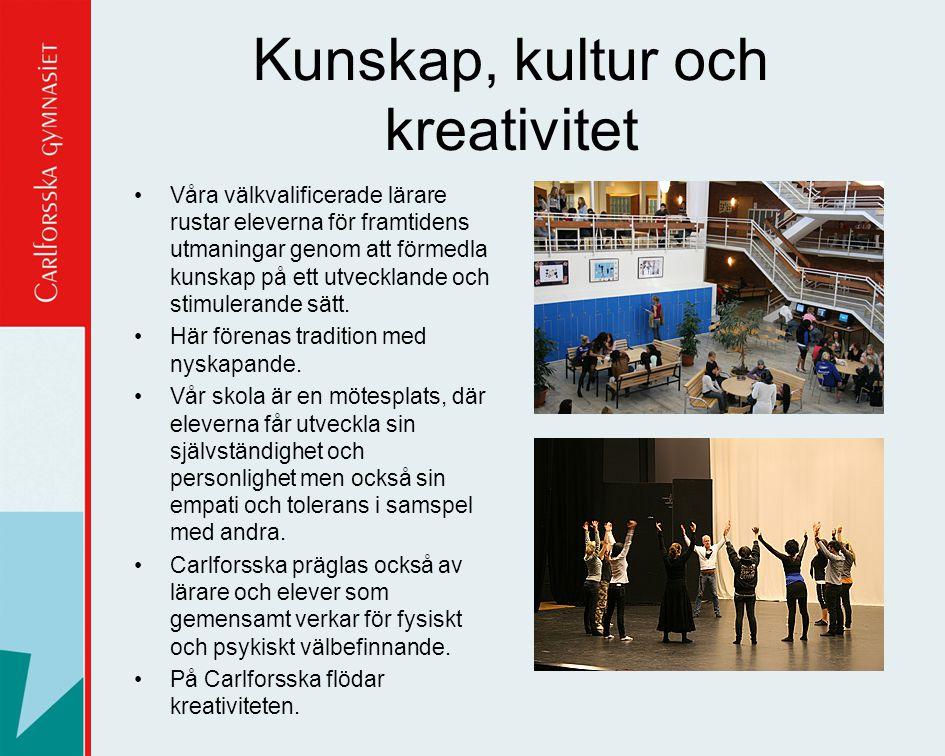 Kunskap, kultur och kreativitet