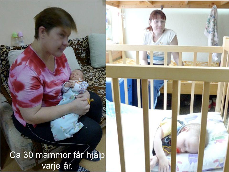 Ca 30 mammor får hjälp varje år.