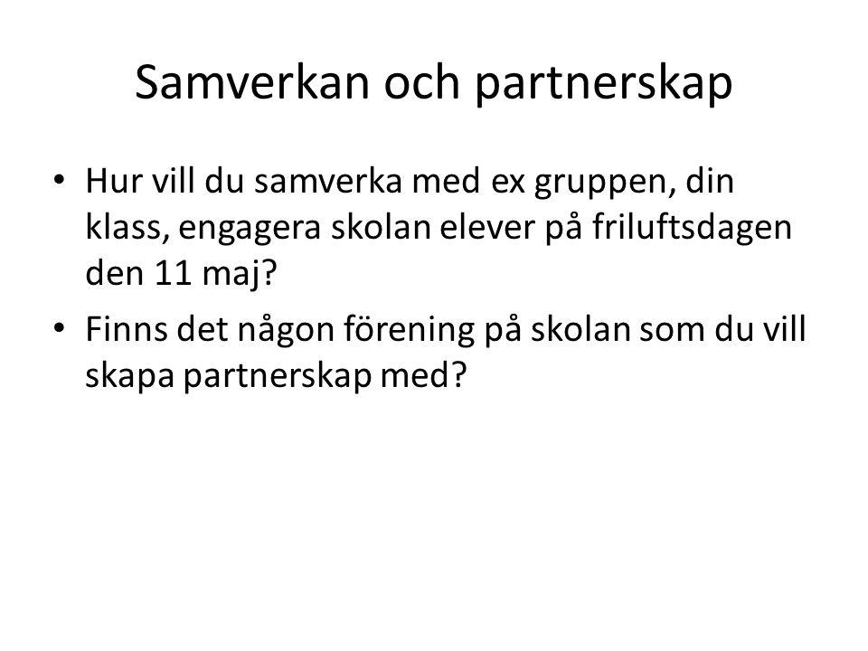 Samverkan och partnerskap