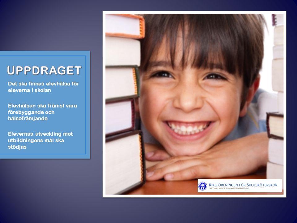 UPPDRAGET Det ska finnas elevhälsa för eleverna i skolan