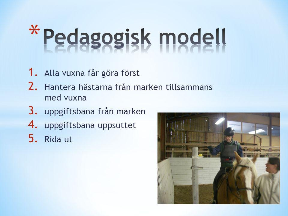 Pedagogisk modell Alla vuxna får göra först