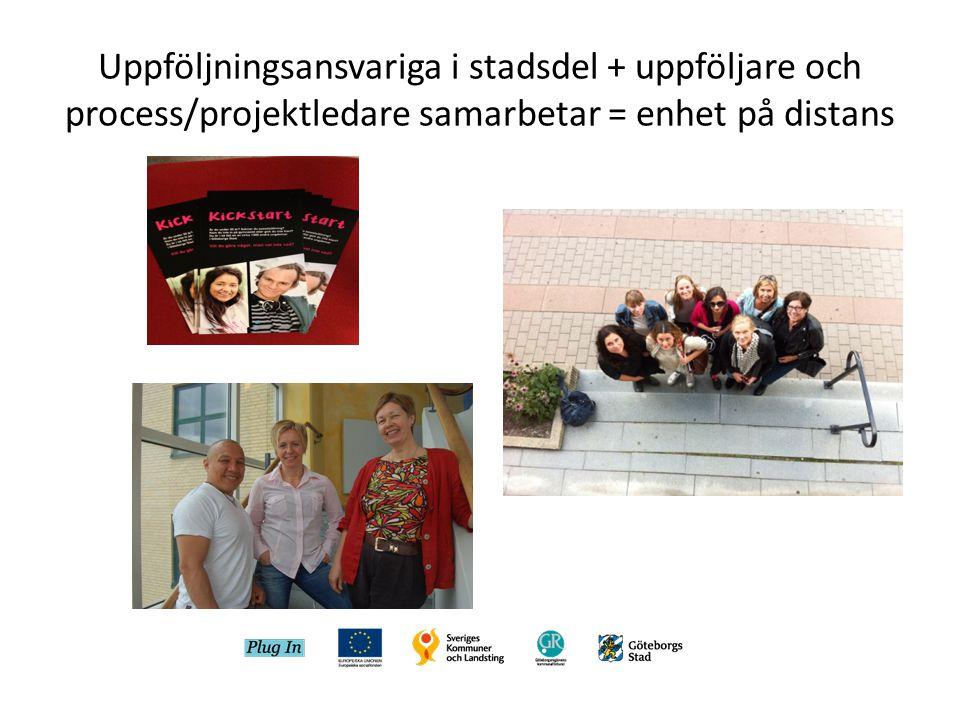 Uppföljningsansvariga i stadsdel + uppföljare och process/projektledare samarbetar = enhet på distans