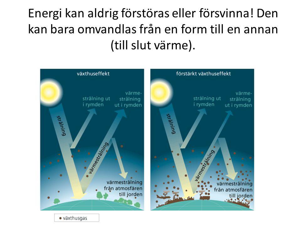 Energi kan aldrig förstöras eller försvinna