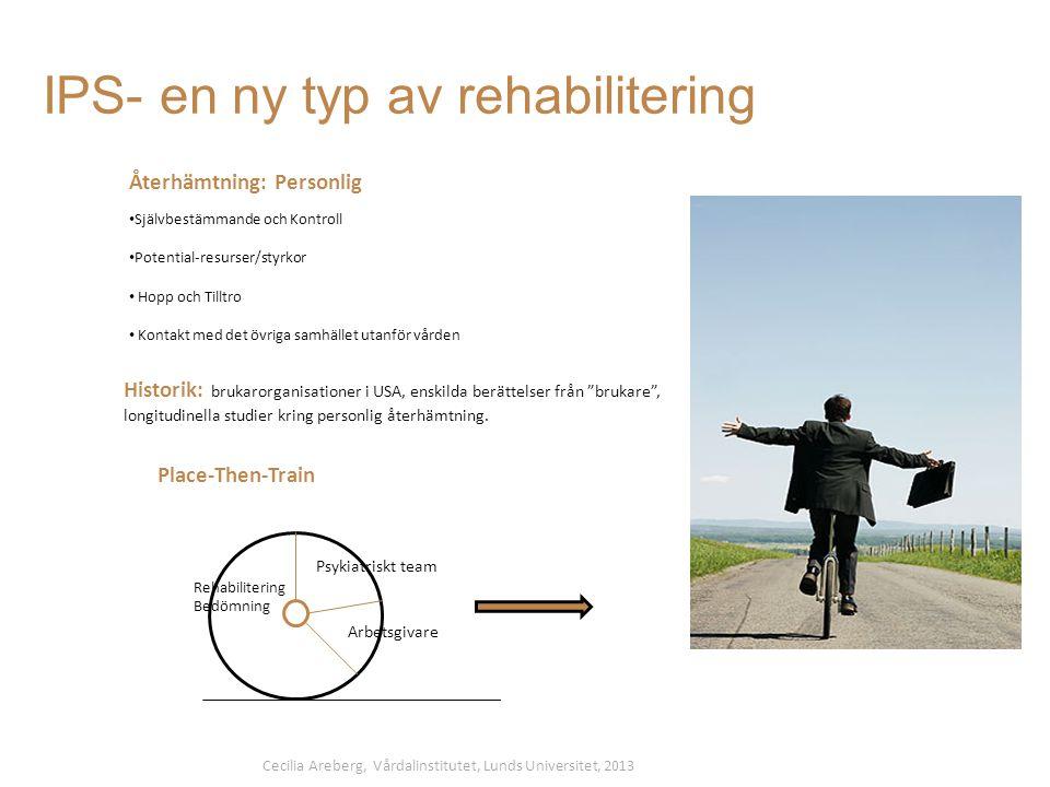 IPS- en ny typ av rehabilitering