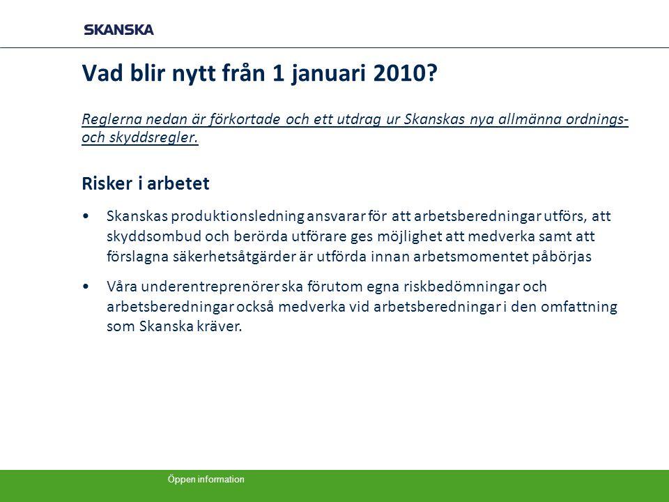 Vad blir nytt från 1 januari 2010