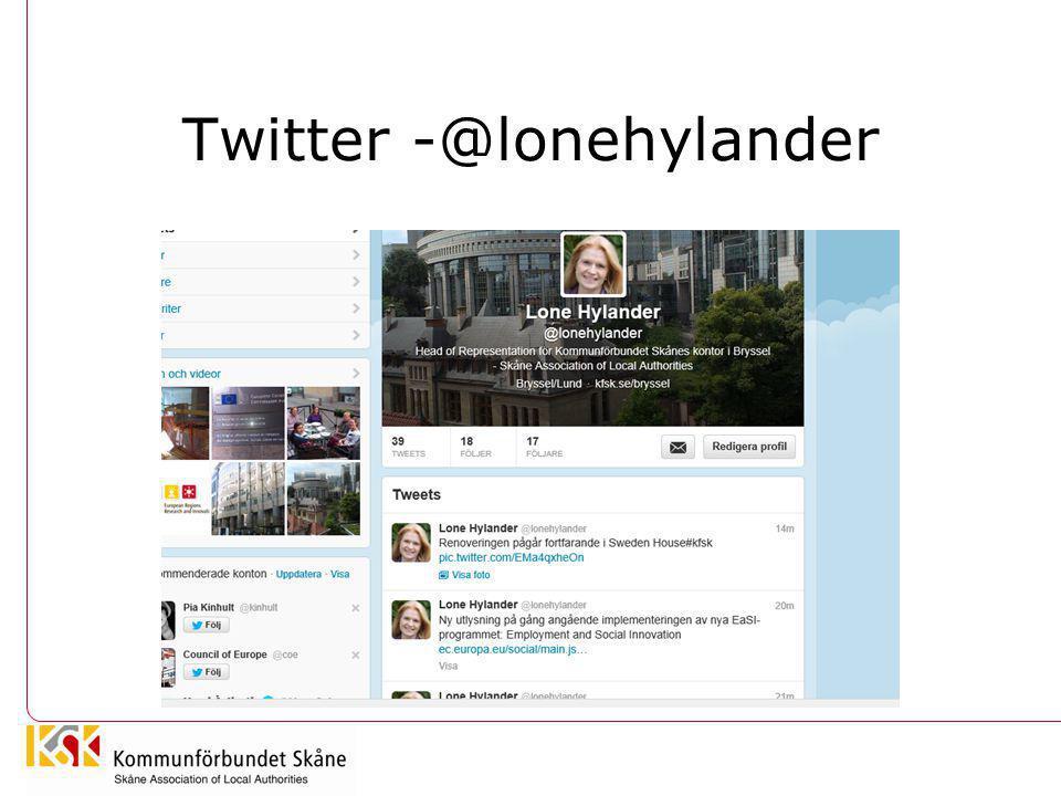 Twitter -@lonehylander
