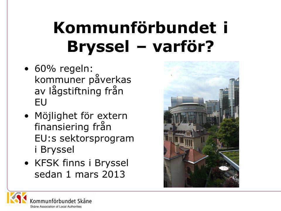 Kommunförbundet i Bryssel – varför
