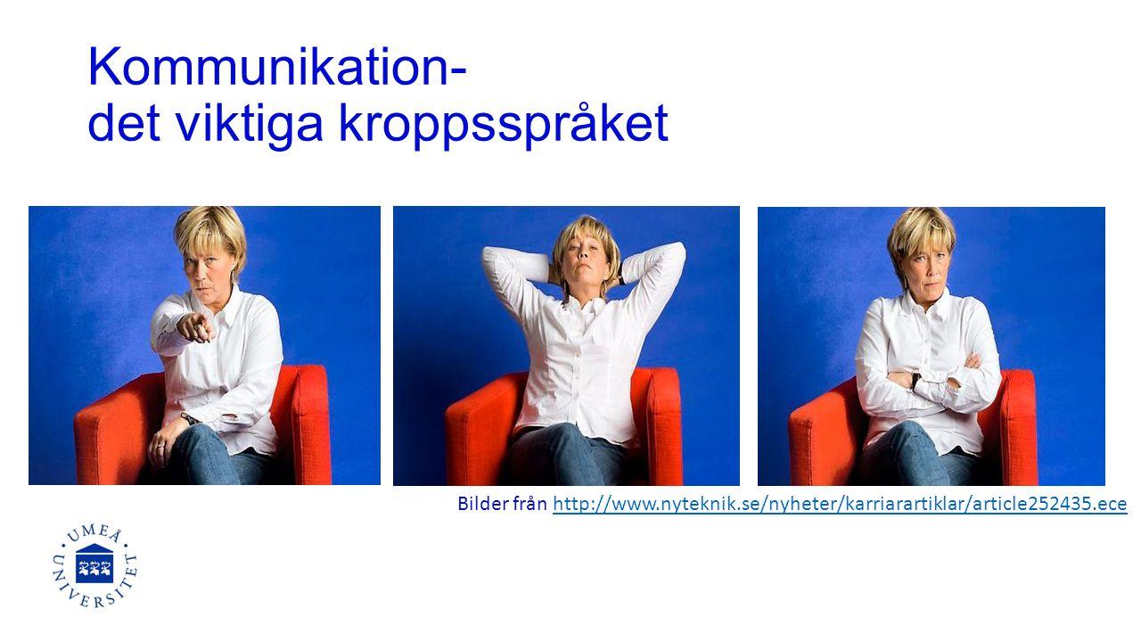 Kommunikation- det viktiga kroppsspråket