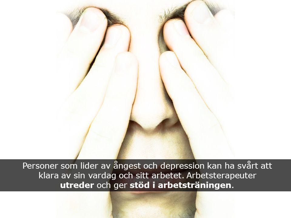 Personer som lider av ångest och depression kan ha svårt att