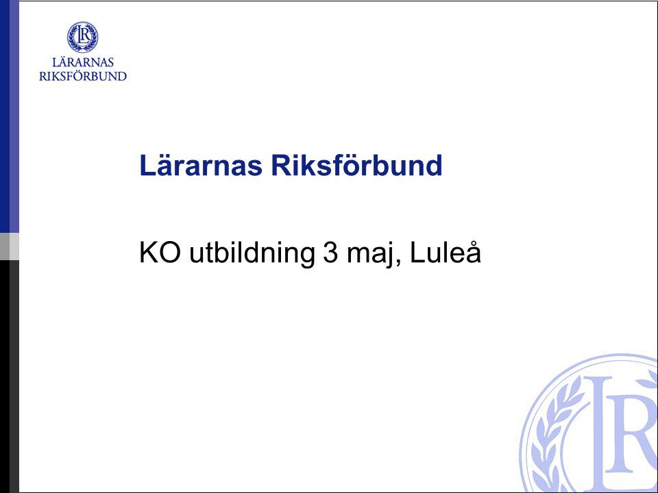 KO utbildning 3 maj, Luleå