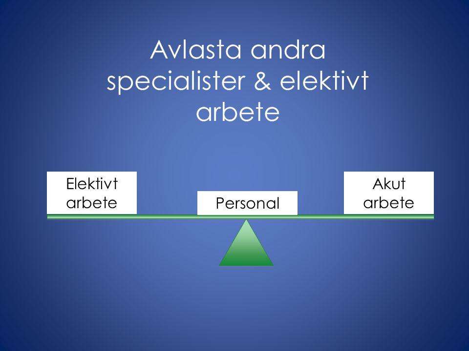 Avlasta andra specialister & elektivt arbete