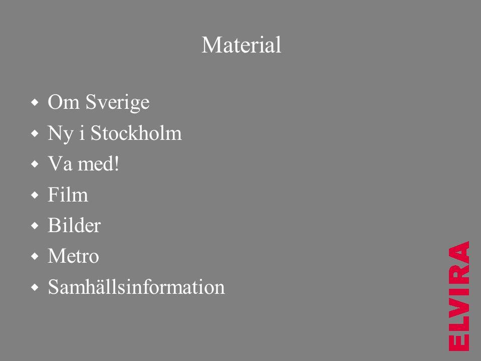 Material Om Sverige Ny i Stockholm Va med! Film Bilder Metro