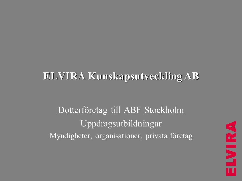ELVIRA Kunskapsutveckling AB
