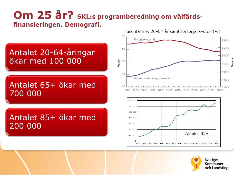 Om 25 år SKL:s programberedning om välfärds-finansieringen. Demografi.